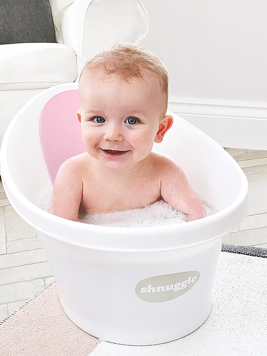 Shnuggle Bath - White with Pink image number 6