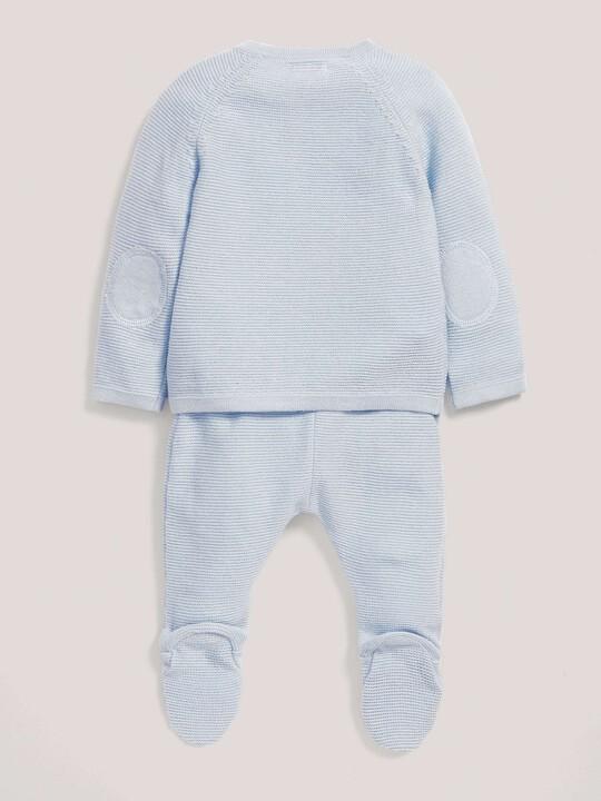 Blue Knitted Jumper & Leggings Set image number 2