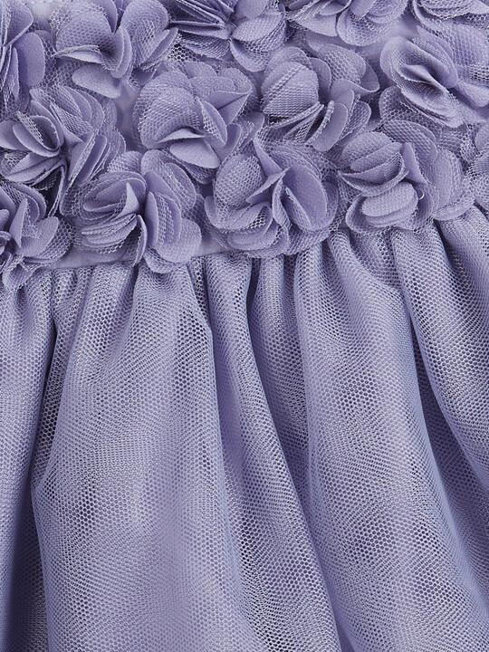 Floral Mesh Dress - Purple image number 3