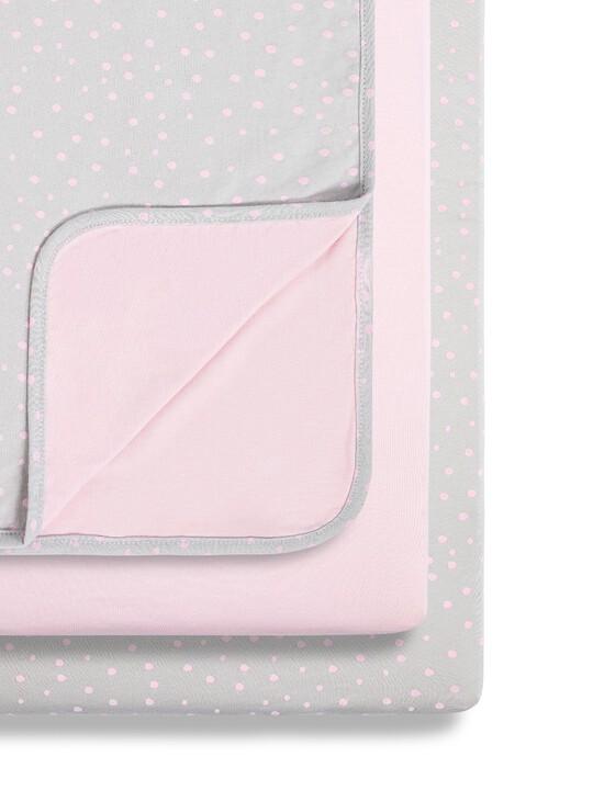 Snuz 3pc Crib Bedding Set – Rose Spots image number 1