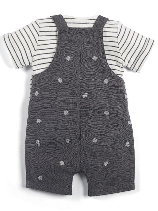 Linen Dungaree & T-Shirt Set image number 2