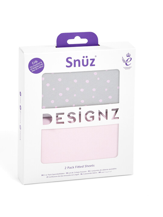 2 Pack Crib Fitted Sheets - Rose Spots image number 3