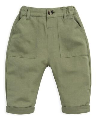 Khaki Linen Trousers