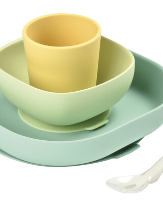 Beaba Silicone Meal Set of 4 Yellow