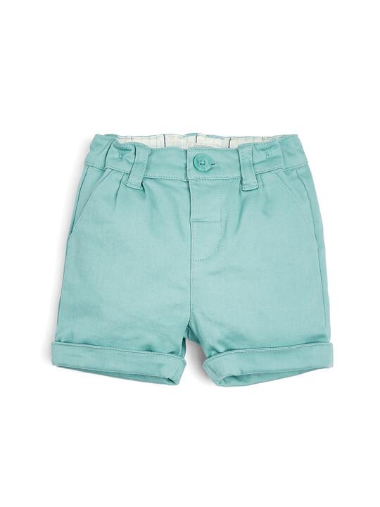 Grey & Green Bodysuit, Waistcoat, Shorts & Cap - 4 Piece Set image number 4