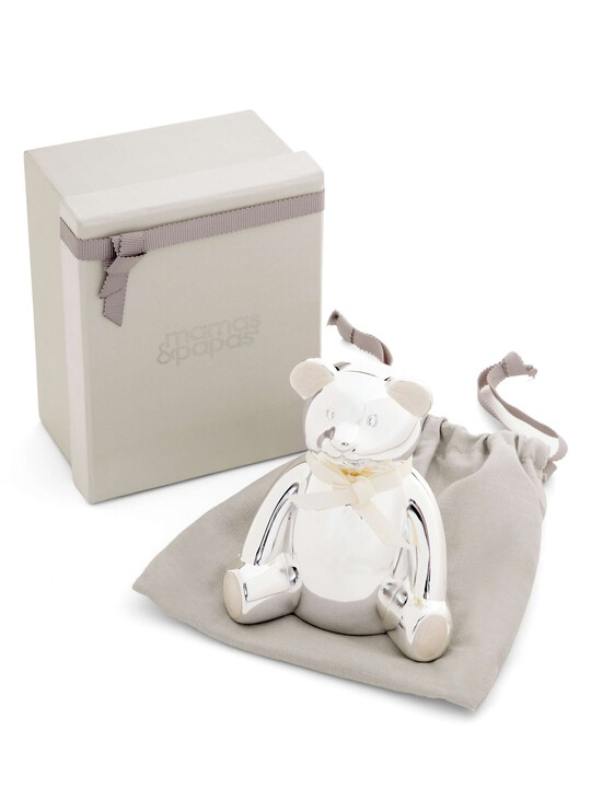 Silver Plated Bear Money Box image number 4