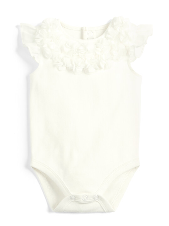 Flower Mesh Body Suit & Tutu - 2 Piece Set image number 4