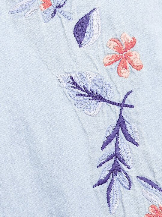 Embroidered Denim Dungarees image number 3