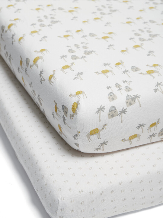 Large Fitted Sheets - Camel image number 1