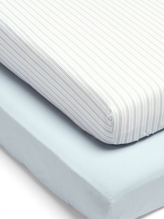 Millie & Boris Fitted Sheets (2 Pack) - Blue image number 1