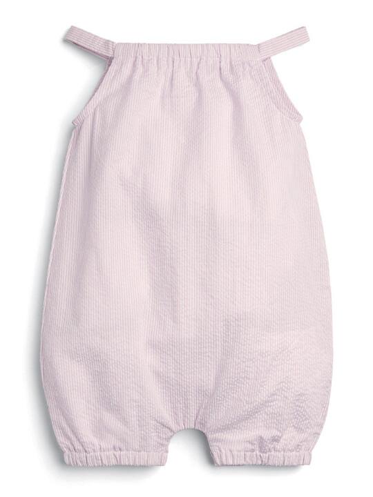 Embroidered Romper - Pink image number 1