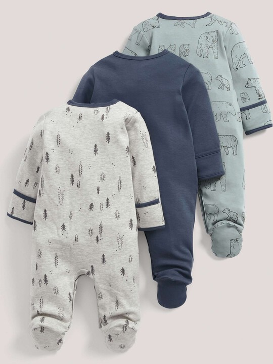 3 pack Bear Print All-In-Ones- 3-6 months image number 3