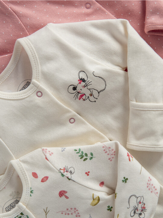 Mouse Jersey Cotton Sleepsuits 3 Pack image number 2