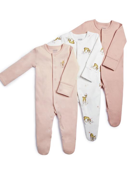 Deer Sleepsuits - 3 Pack image number 1
