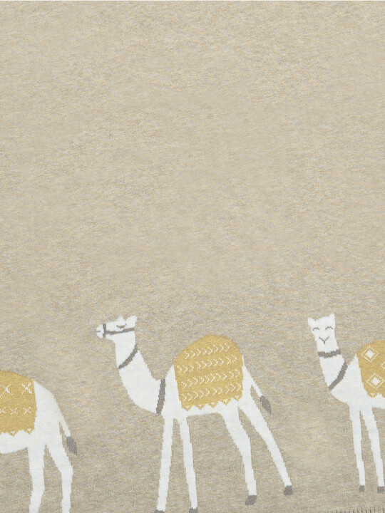 Knitted Blanket (70x90cm) - Sand Camel image number 2