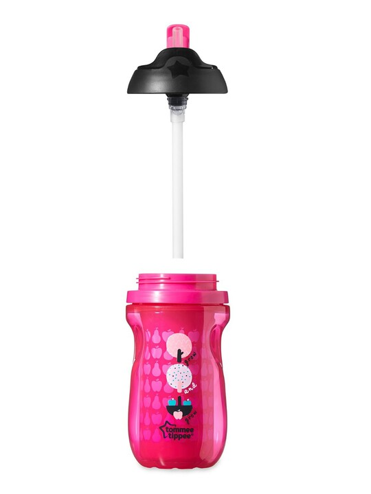 Tommee Tippee Explora 260ml Insulated Straw Cup - Pink image number 2