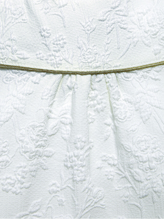 A-Line Textured Dress with Gold Bow image number 5