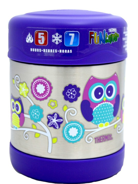 Thermosâ®- Funtainerâ® Stainless Steel Food Jar 290Ml- Owl image number 1