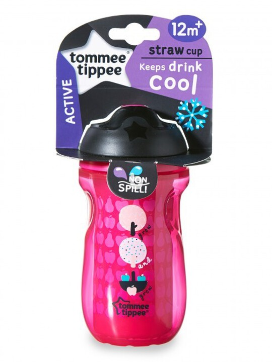 Tommee Tippee Explora 260ml Insulated Straw Cup - Pink image number 1