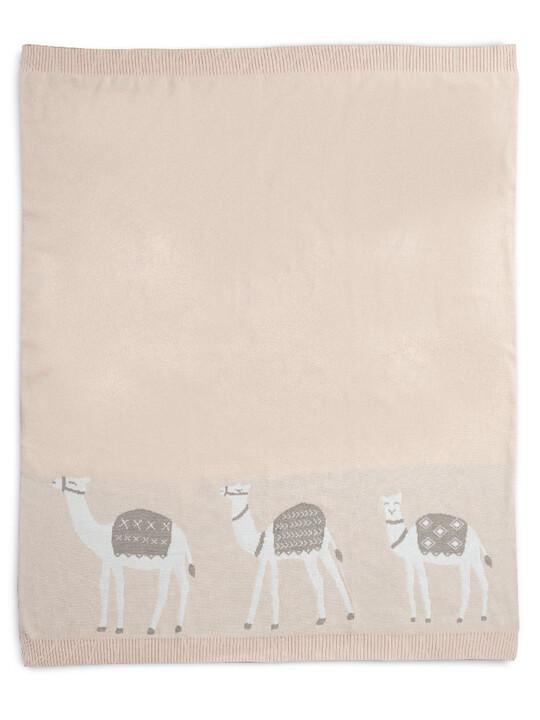 Knitted Blanket (70x90cm) - Pink Camel image number 1