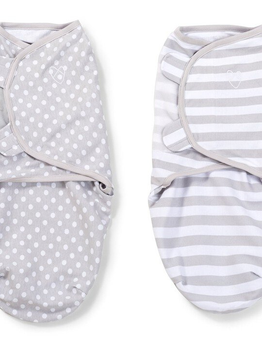 Swaddle Wraps  (pack of 2) - Grey image number 2