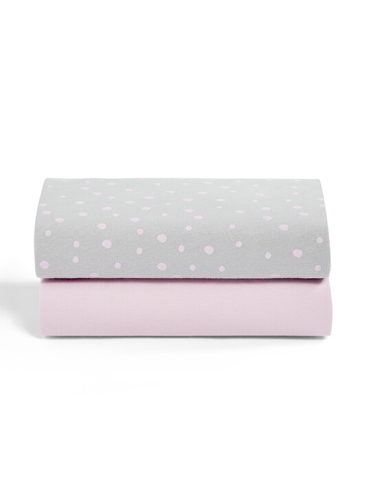 2 Pack Crib Fitted Sheets - Rose Spots image number 2