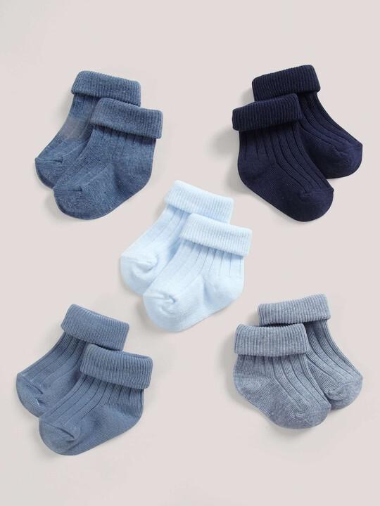 Five Pack of Blue Socks image number 2
