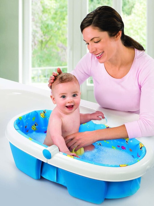 Newborn-to-toddler fold away baby bath -duck diver image number 2