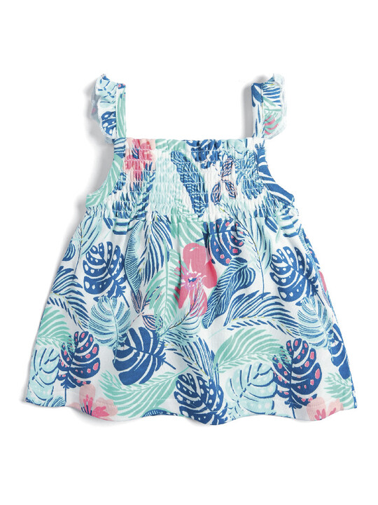 Tropical Print Frill Dress image number 1
