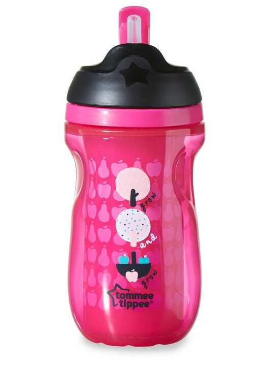 Tommee Tippee Explora 260ml Insulated Straw Cup - Pink image number 4