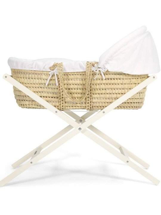 Classic Folding Moses Basket Stand - Ivory image number 2