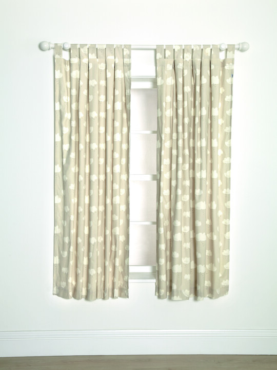 Lined Tab Top Curtains - Sweet Dreams W:132 X Drop: 160 cm image number 1