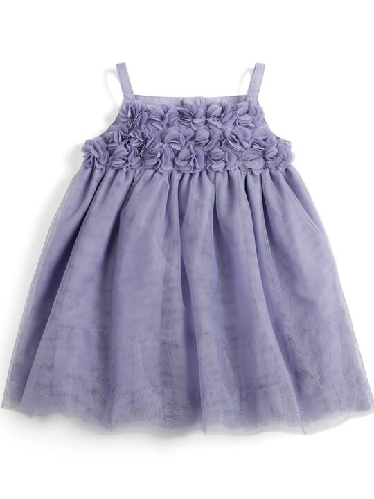 Floral Mesh Dress - Purple image number 1