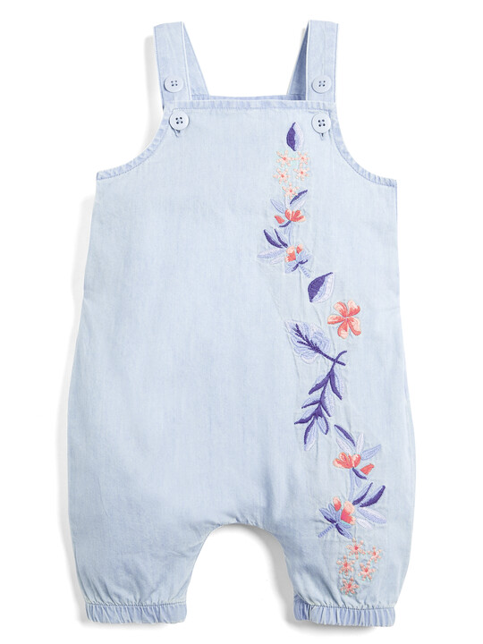 Embroidered Denim Dungarees image number 1