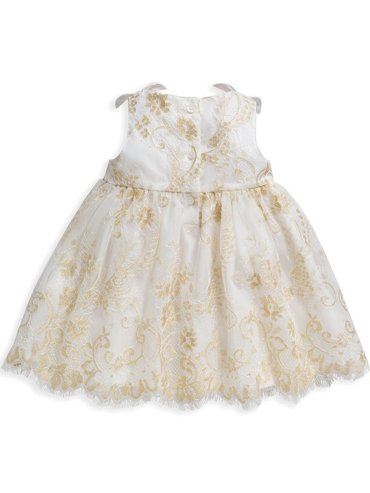 Lace Scalloped Hem Dress image number 2