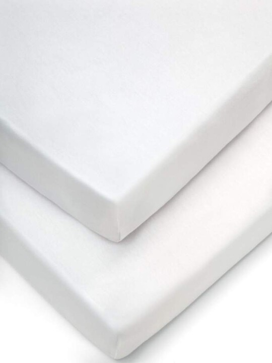 Cotbed Fitted Sheets (Pack of 2) - White image number 1