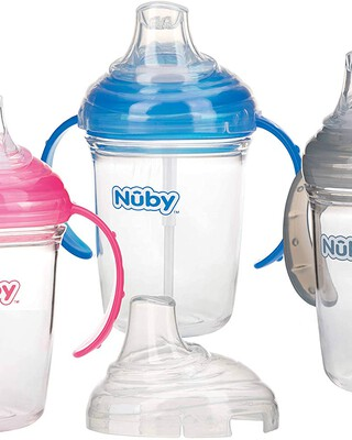 Nuby Twin Handle Soft Spout Cup made with Tritan- 240ml