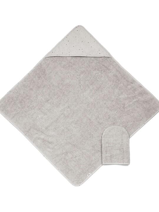 Hooded Towel & Mitt - Grey image number 1