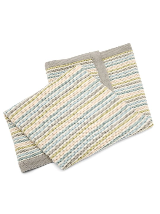 Small Knitted Blanket - Stripe Pastel image number 3