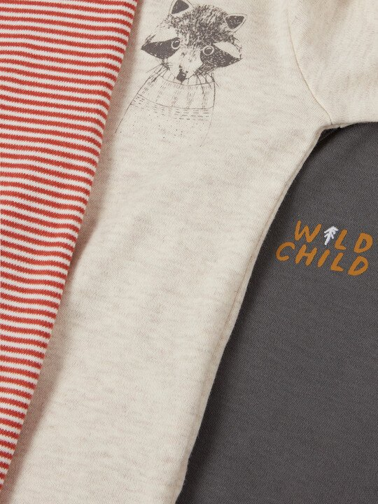 3Pack of  WILD Sleepsuits image number 3