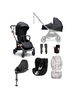 Airo 7 Piece Essentials Bundle with Black Carrycot & Black Sirona Car Seat