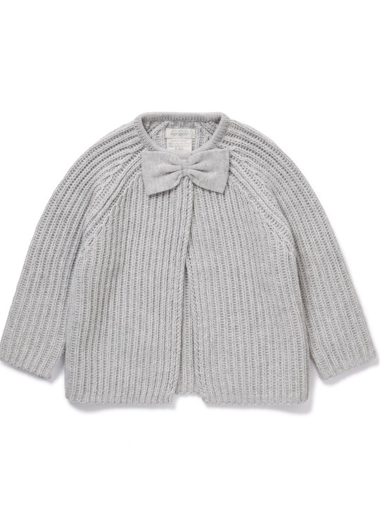 Knitted Bow Cardigan image number 1