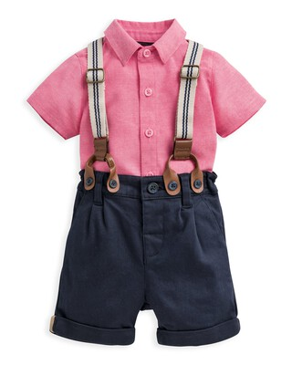 3 Piece Shirt, Shorts & Braces Set