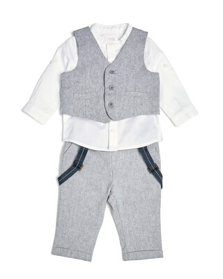 Chambray Suit - 3 Piece Set