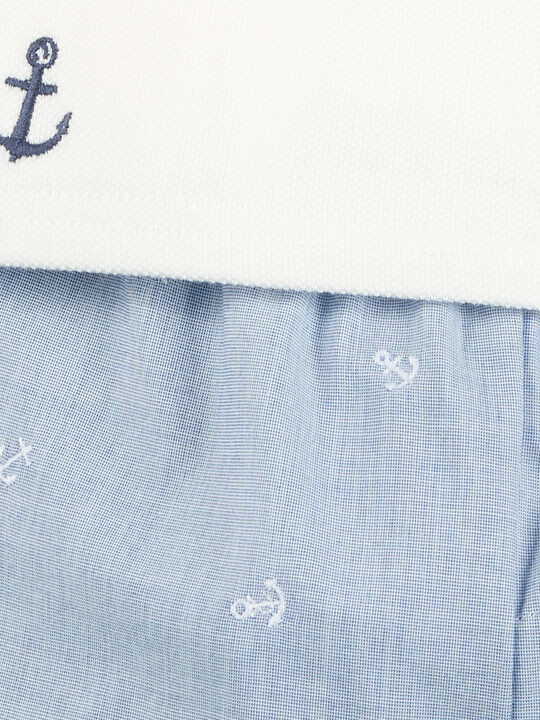 Polo Shirt and Embroidered Shorts - 2 Piece Set image number 5