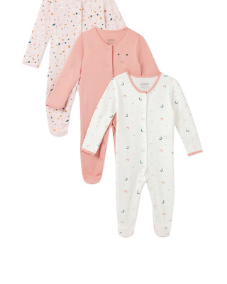3Pack of  GEO Sleepsuits