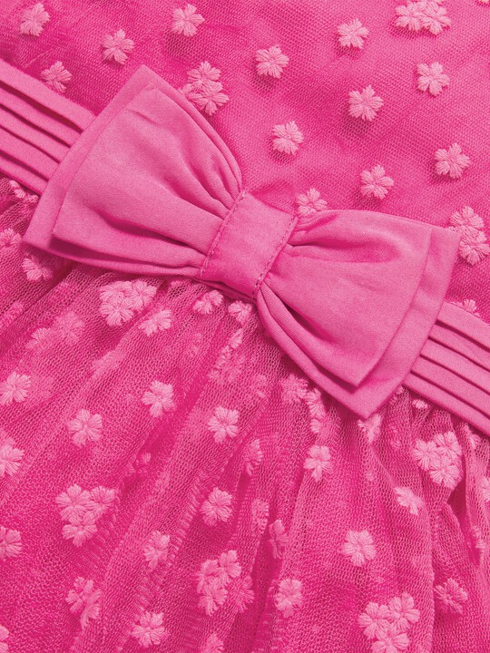 Embroidered Flower Mesh Dress image number 4
