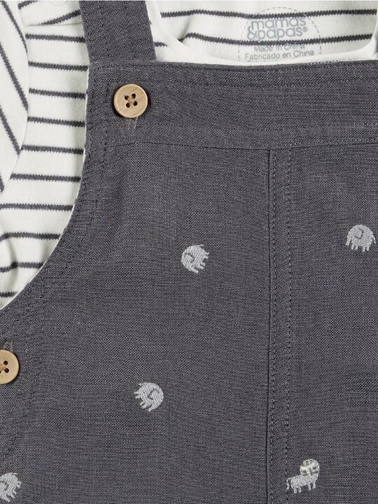 Linen Dungaree & T-Shirt Set image number 5