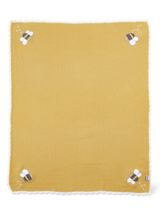 Knitted Blanket(70x90cm) - Bee Happy image number 2