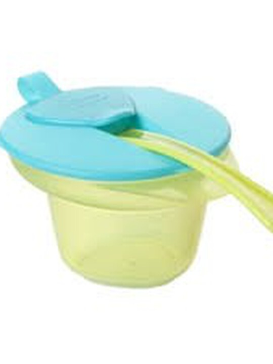 Tommee Tippee Cool and Mash Weaning Bowl with Lid & Spoon - Blue image number 1